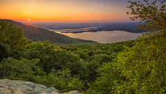 Sunset over Tennessee River