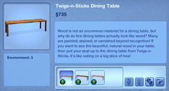 Twigs-n-Sticks Dining Table