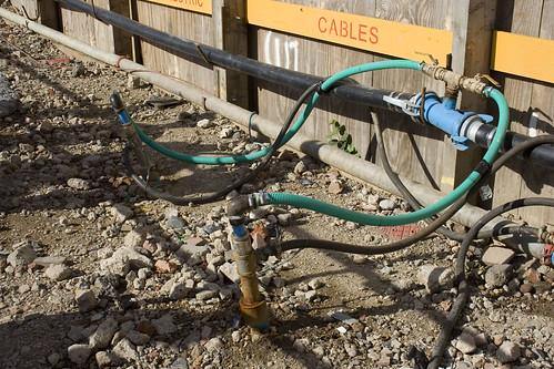 Dewatering bore holes