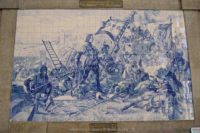 Azulejos en la estación de Oporto