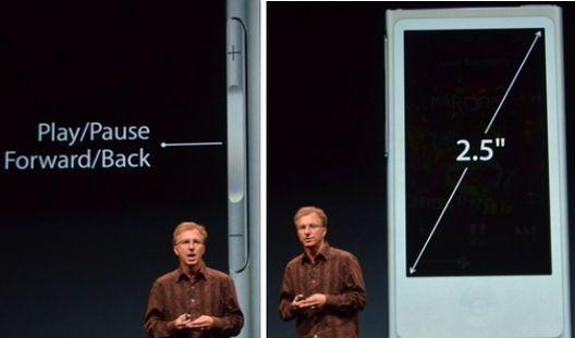 Кнопки и экран iPod nano