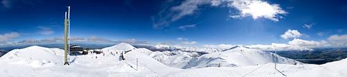 newzealand snow mountains snowboarding skiing pentax pano panoramic nz kiwi tamron mountainrange skifield k30 tamron1750mm 100newzealand pentaxk30