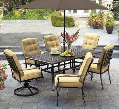 patio dining set for outdoors with umbrella