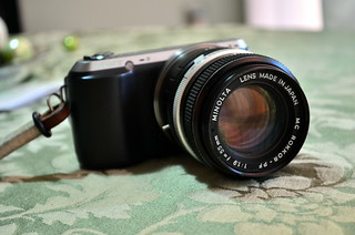 Sony NEX-C3 with MC Rokkor-PF 1.9/55 MD/MC