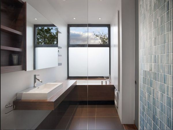 Baños Modernos Rectangulares: de sobreponer rectangulares o cuadrados dan un look moderno al baño