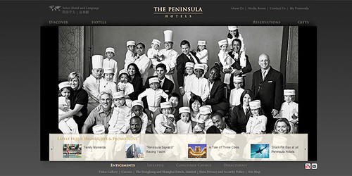 Peninsula Hotels Screenshot