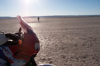 Africa Twin and the Alvord Desert