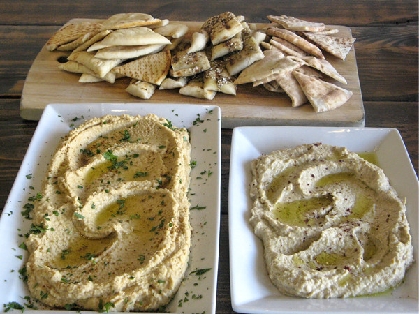 Hummus and Baba Ganoush at New School of Cooking