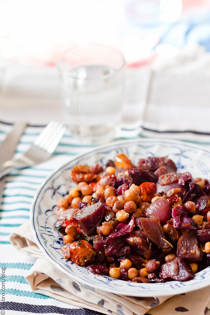 Purple Vegetables with Chickpeas