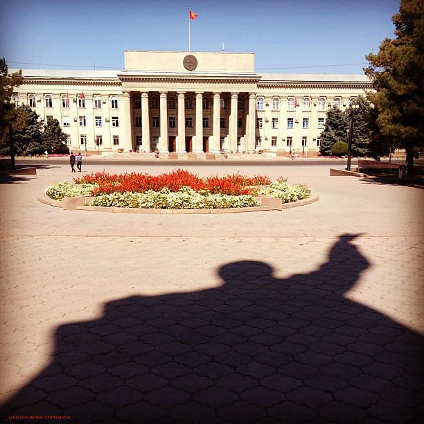 Statue of Lenin in Panfilov Park Bishkek Kyrgyzstan