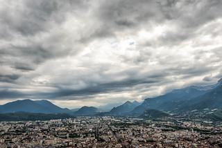 Vista de Grenoble desde la Bastilla