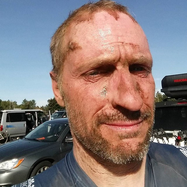 Choking dust and heat stroke may be an issue. ...still waiting to try the new #compasscyclestires in the mud. #selfiesunday