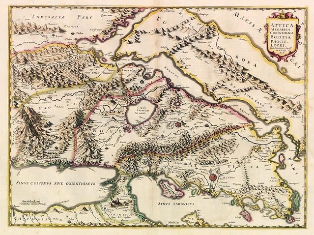 Map of Attica, 1639 (Hondius)