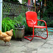 butters red chairs by Cha X Davis