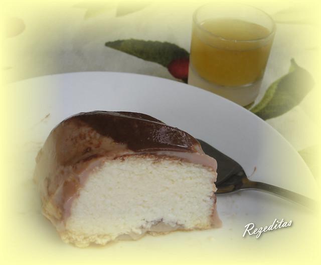 TARTA DE QUESO Y CHOCOLATE (Microondas)