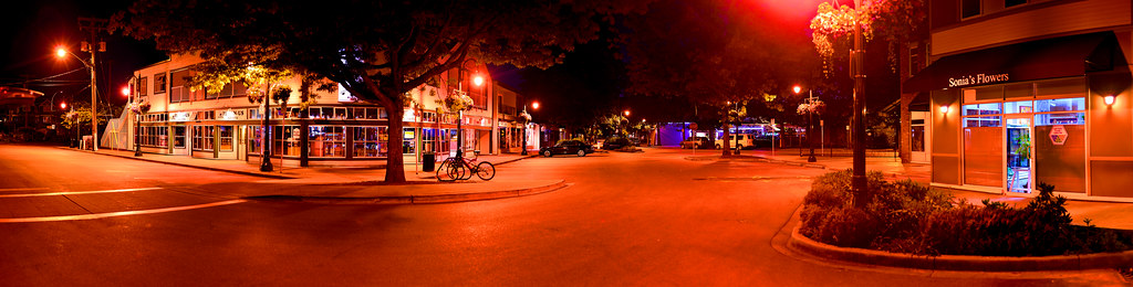 Ladner Village at Night 2012