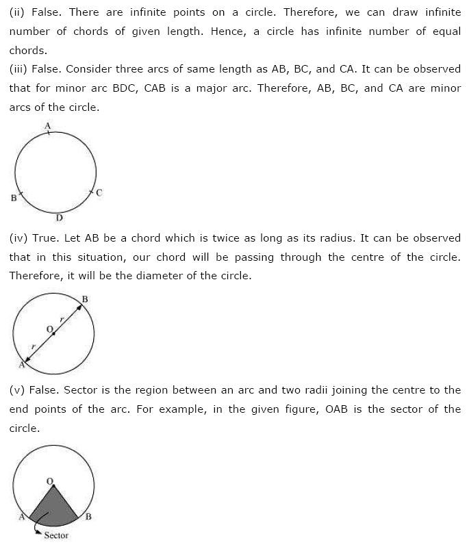 NCERT Solutions For Class 9 Maths Chapter 10 Circles PDF Download