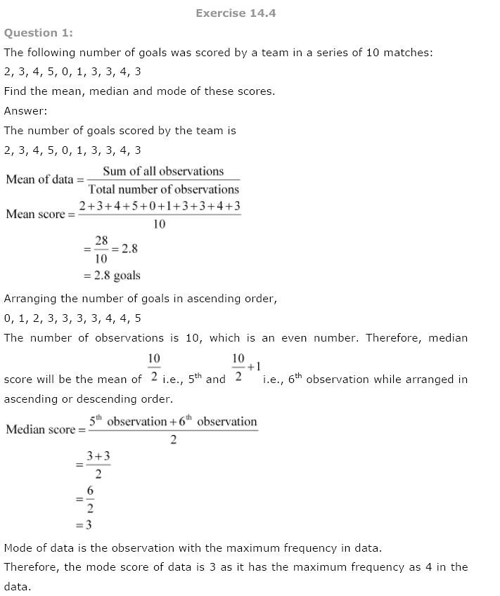 ncert solutions for class 9 maths chapter 14 study rankers