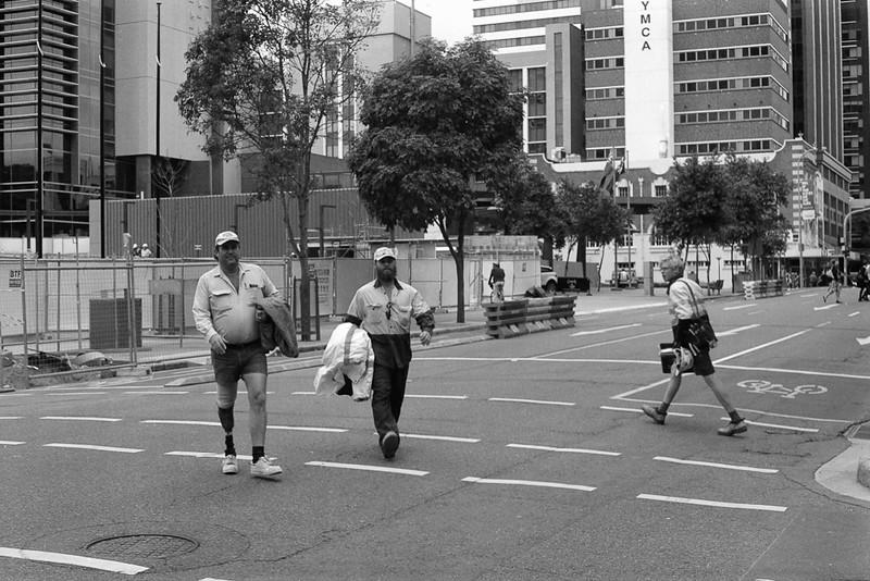 Workers, Roma Street, Brisbane