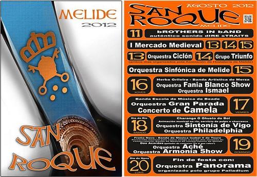 Melide 2012 - Festas patronais de San Roque - cartel
