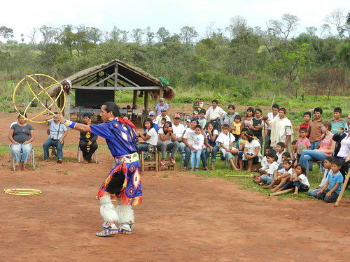 The wonderful Yellow Bird Dancers visit a town in Paraguay