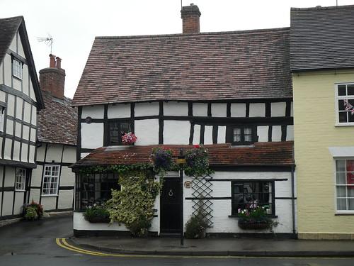 a higgledy-piggledy house in Alcester, Warwickshire