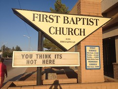 Funny Church Sign by mikeysklar
