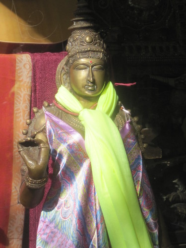 Eastern Sculpture with Silk Clothing