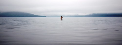 Paddling in Lake Kusharo (Hokkaido, Japan)