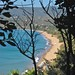 Small photo of Zaga beach from the top of the hills