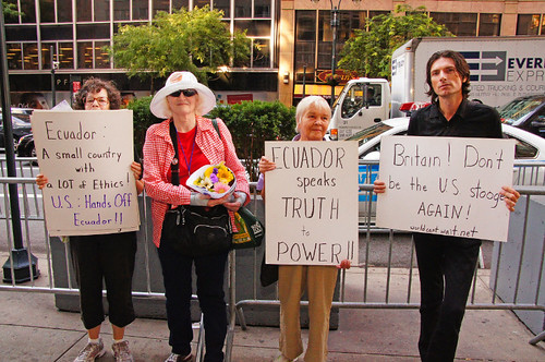 Assange Ecuador protest