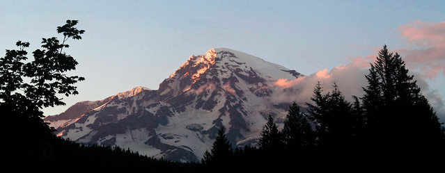 Last Light on Rainier (pano)