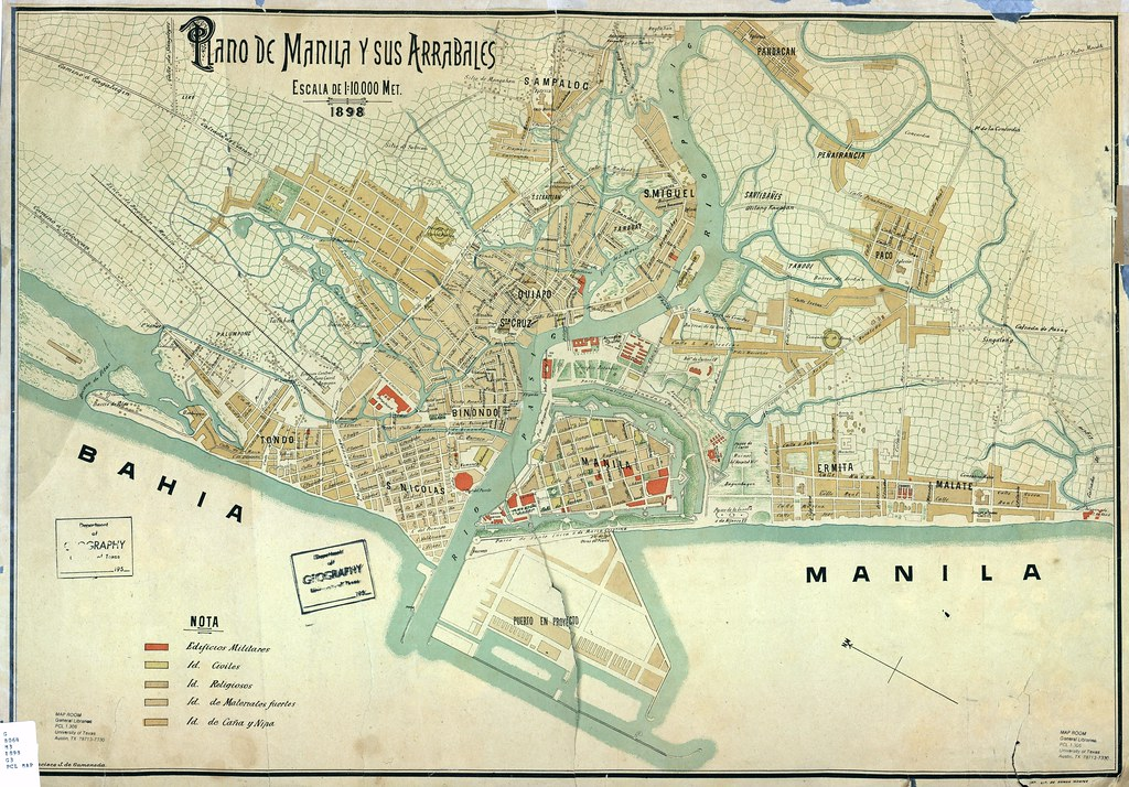 Spanish Philippines Map.Spanish Map Manila And Suburbs 1898 Philippines Go To The Flickr