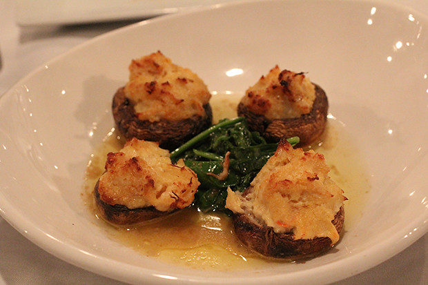 Crab Stuffed Mushrooms, Duval's New World Cafe, Sarasota, FL