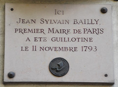 Photo of Jean Sylvain Bailly white plaque