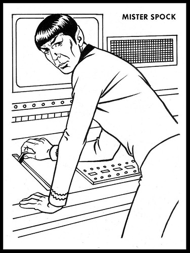 Star trek a photo on flickriver for Star trek coloring pages