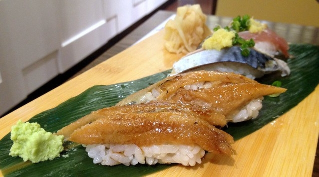 Anago and Aji Sushi
