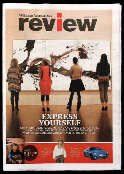 Australian Weekend Review front cover_Four women look at painthing_sRGB_400