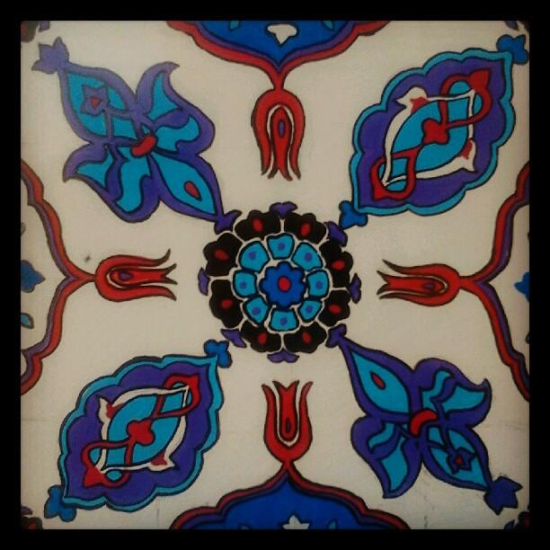 zoom on #diy #artattack #inspiration #design #tile #pattern #ceramic #colors #decoration #decor #instamood #instagood #istanbul #webstagram