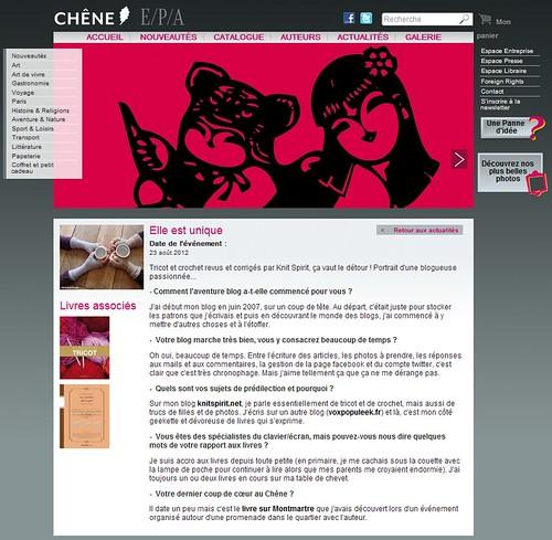 Interview pour les Editions du Chêne
