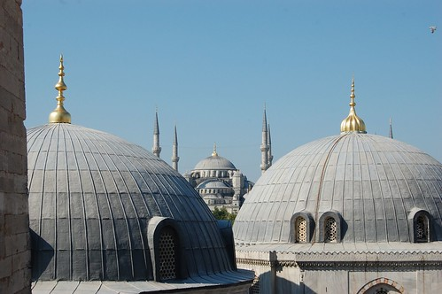View of Blue Mosque from Hagia Sophia