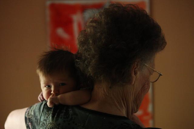 Elise and Great Grandma Carol