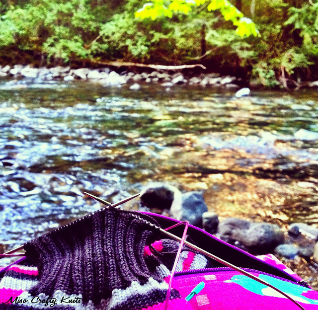 Knitting by River