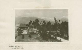 Postcard of Pomona College in 1909