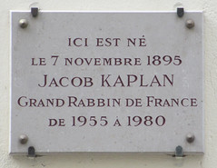 Photo of Jacob Kaplan grey plaque