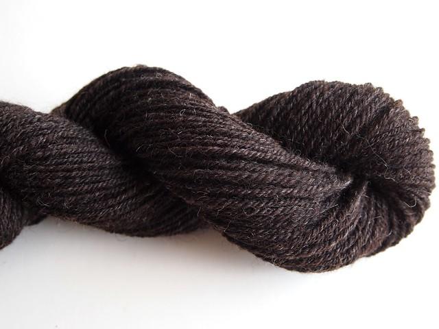 Black Shetland-chain plied-2.5oz-186yds
