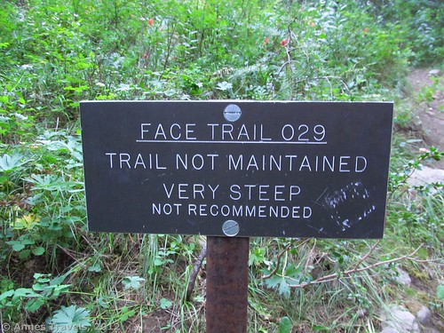 The Face Trail sign, Jedediah Smith Wilderness Area, Caribou-Targhee National Forest, Wyoming