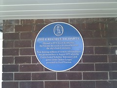 Photo of The Indoor League and Fred Trueman blue plaque