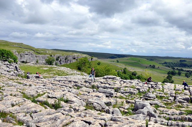 The limestone top of Malham Cove