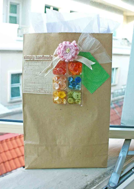 Simply handmade decorated paper bag